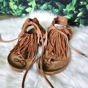 Sam Edelman | Leather Fringe Kyra Thong Sandals